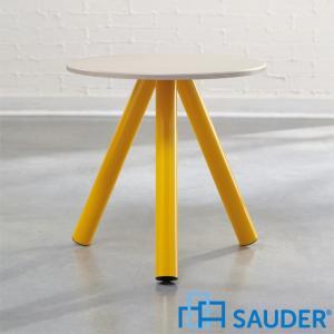 見切り品 サイドテーブル 丸テーブル 組立式 アウトレット ランプテーブル 花台 モダン Soft Modern アメリカ SAUDER サウダー社|usf