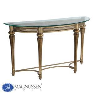 ソファテーブル ガラス テーブル ゴールド ガラステーブル 輸入家具アウトレット アンティーク調 37515 MAGNUSSEN usf