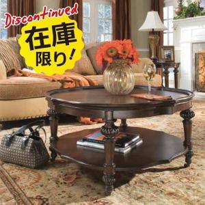 ローテーブル  テーブル センターテーブル キャスター付き 丸テーブル アンティーク調 高級 大きい 125545 MAGNUSSEN|usf