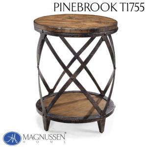 インダストリアル 丸テーブル サイドテーブル ヴィンテージ アンティーク アウトレット 輸入家具 アクセントテーブル T1755-35RC Pinebrook|usf