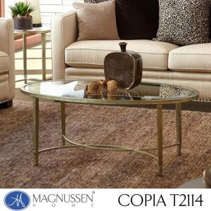 ローテーブル ガラス アンティーク ゴールド ブロンズ アウトレット 輸入家具 カクテルテーブル T2114-47 Copia|usf