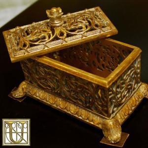 USAインテリア雑貨 小物入れ ゴールドカラー 36408|usf