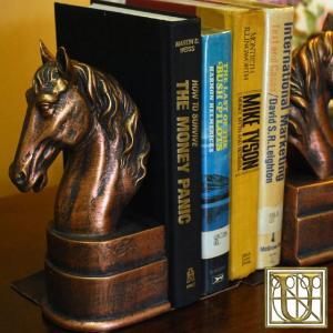 USAインテリア雑貨 HORSE ブックエンド ゴールド 75390(2個1セット)|usf