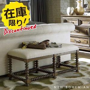 【メーカー廃盤ディスコン品】輸入家具アウトレット ベンチ New Bohemian 450|usf