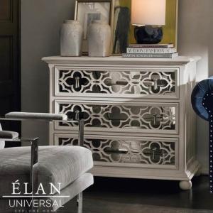 キャビネット 白家具 シャビーシック グレー 白 ホワイト フレンチ カントリー アンティーク調  高級 ホールチェスト ELAN|usf