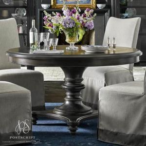 ダイニングテーブル 4人掛け 6人掛け 丸テーブル ダーク 丸 円型 高級 アンティーク調 デザイナーズ テーブル 4人 6人 ダイニングテーブル Postscriptシリーズ|usf
