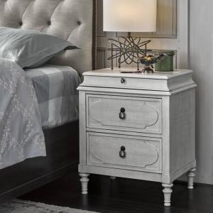 ナイトスタンド 白 グレー アメリカ 白家具 ホワイト シャビーシック ベッドサイド チェスト フレ...