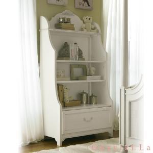 USA輸入家具 ブックケース 136A018 GaBRIeLLa オープンラック 飾り棚 白家具 本棚|usf