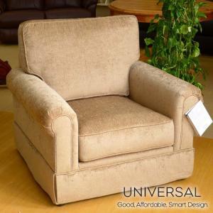輸入欧米家具 1人掛け羽毛入りソファ UNIVERSAL 501 ベージュブラウン|usf
