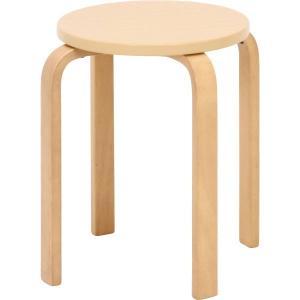 木製スツール 6脚セット 木製 曲脚 丸イス ナチュラル 木製椅子 北欧/木製/スツール/チェアー/イス/椅子|ushops