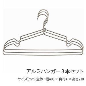 アルミハンガー 3本セット ハンガー おしゃれ 店舗 メンズサイズ レディースサイズ 軽量 ushops