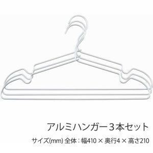 アルミハンガー 3本セット ハンガー おしゃれ 店舗 北欧 メンズサイズ レディースサイズ 軽量 ushops