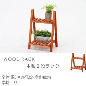 ラック 収納 ディスプレイ 木製 北欧 シンプル 棚 木製2段ラックの写真