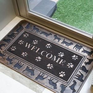 玄関マット ラバーマット 屋外用 おしゃれ デザインドアマット マット ドアマット 室外 家庭用 お...