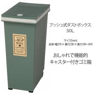 ゴミ箱 ダストボックス インテリア 大人気 ふた付き 30L 角型 プッシュ式 ごみ箱|ushops