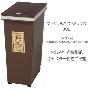 ゴミ箱 大人気 ふた付き 30L 角型 プッシュ式 ごみ箱 ダストボックス インテリア|ushops