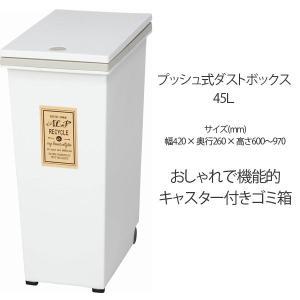 ゴミ箱 大人気 ふた付き 45L 角型 プッシュ式 ごみ箱 ダストボックス インテリア|ushops