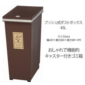 ダストボックス インテリア ゴミ箱 大人気 ふた付き 45L 角型 プッシュ式 ごみ箱|ushops