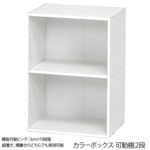 本棚 可動棚 DVDラック マガジンラック 収納カラーボックス 収納棚 カラーボックス 可動棚2段|ushops