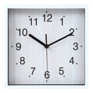壁掛け時計 雑貨 かけ時計 壁掛時計 掛け時計 時計 かわいい オシャレ 四角 ホワイト ushops