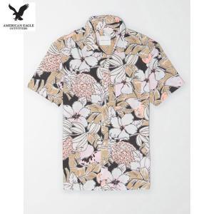 アメリカンイーグル メンズ マルチ 半袖シャツ プリント|usj-mens