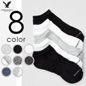 アメリカンイーグル メンズ 無地 ショートソックス 靴下 5枚パック usj-mens