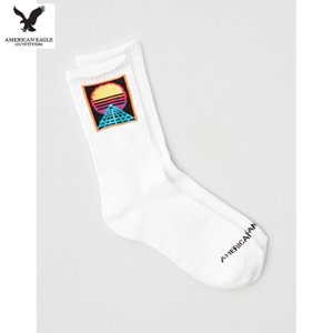 アメリカンイーグル メンズ ホワイト 靴下 クルーソックス ハイソックス usj-mens