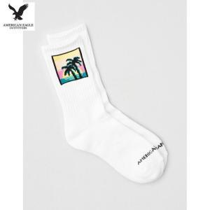 アメリカンイーグル メンズ ホワイト 靴下 クルーソックス usj-mens