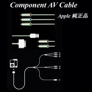 Apple純正Component AV Cable ACアダプタ付 MB128LL/A iPod touch iPod classic  速達配送商品|uskey