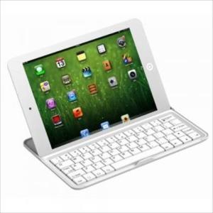 iPad mini対応 スタンド機能付き アルミニウム Bluetoothキーボードケース ホワイト|uskey