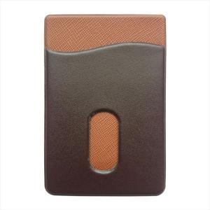 スマホに貼って使える PUレザー シール型 カード入れ スマホケースカード収納 定期入れ|uskey