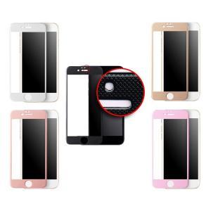 iPhone 6S/6 Plus 5.5インチ 液晶保護ガラス チェック柄 カーボンファイバーフレーム SCREEN PROTECTOR HANATORA|uskey