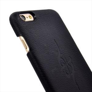 HANATORA iPhone 6s Plus/6 Plus 対応  Majesty シュリンク加工 姫路レザー 本革 ハードケース ブラック|uskey