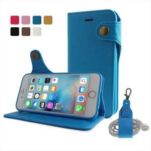 iPhone6s/6 対応 手帳型ケース PUレザー カバー 落下防止ストラップ付属 7カラー 片手で簡単 磁石 Premium HANATORA|uskey