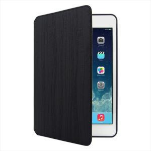 iPad mini 4 対応 手帳型ケース BlackBark エンボスド PUレザー ハンドメイド|uskey