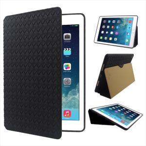 iPad Pro9.7インチ / iPad mini4 対応 Ipadケース 手帳型ケース メッシュ レザー 編み込みストラップ穴|uskey