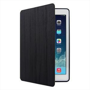 iPad Pro9.7インチ 対応 Bark 手帳型ケース BlackBark エンボスド PUレザー ハンドメイド|uskey