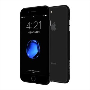 iPhone 8 Plus/7 Plus 専用ケース ハイブリッド Mixture 硬質PCクリア背面×熱可塑性PUソフトバンパー HANATORA|uskey