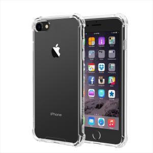 iPhone 8/iPhone 7 専用ケース 耐衝撃 衝撃吸収 防指紋 薄型 クリア 高透明度ソフト Sturdy ガラスフィルム+TPUソフトホワイトストラップ付属 HANATORA|uskey