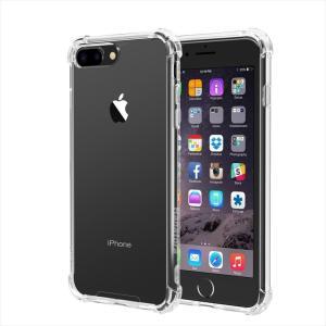 iPhone 8 Plus/7 Plus 専用ケース 耐衝撃 衝撃吸収 防指紋 薄型 クリア 高透明度ソフト Sturdy ガラスフィルム+TPUソフトホワイトストラップ付属 HANATORA|uskey
