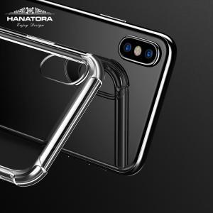 iPhone X 専用ケース Sturdy 耐衝撃 衝撃吸収 防指紋 薄型 クリア 高透明度ソフト ガラスフィルム+TPUソフトホワイトストラップ付属|uskey