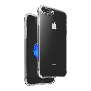 iPhone 8 Plus/7 Plus 専用ケース 衝撃吸収 防指紋 薄型 スピーカー防塵防滴 クリア 高透明度ソフト Dusproof ガラスフィルム+TPUソフトホワイトストラップ付属|uskey