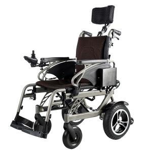 折り畳み電動車椅子、経済的+軽量 ヘットレスト付き Foldawheelシリーズ PW-777PL|usmtekuno