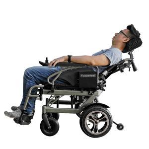折り畳み電動車椅子、経済的+軽量 ヘットレスト付き Foldawheelシリーズ PW-777PL|usmtekuno|03