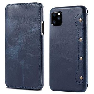 WiseSwim Leather Flip Case Fit for iPhone 11 Pro M...