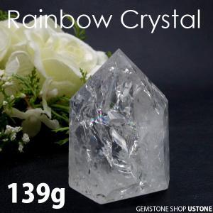 水晶 ポイント レインボー 原石 139g クラック水晶 天然石 パワーストーン 合計5,400円以上で送料無料