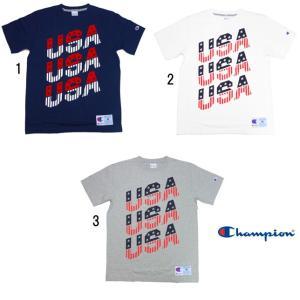 Champion チャンピオン メンズ アクションスタイル USAプリント Tシャツ TEE C3-H370|usual