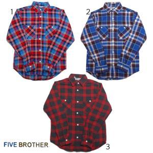 FIVE BROTHER ファイブブラザー フランネル チェックシャツ ネルシャツ ヘビーネルワークシャツ 151740|usual