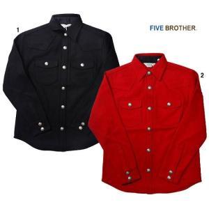 【SALE】 FIVE BROTHER ファイブブラザー CPO ジャケット シャツジャケット メルトンジャケット|usual