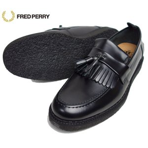 FRED PERRY フレッドペリー×GEORGE COX メンズ タッセルローファー レザーシューズ B8278|usual